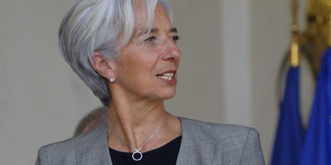 Christine Lagarde, le 6 avril à l'Elysée.