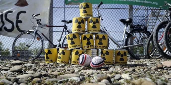 Lors d'une manifestation contre la centrale nucléaire de Fessenheim (Haut-Rhin), en mars 2011.