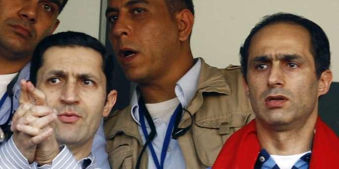Alaa et Gamal Moubarak, fils de l'ancien président égyptien.