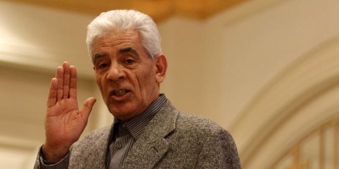 Moussa Koussa, l'ancien ministre libyen, le 7 mars 2011 à Tripoli.