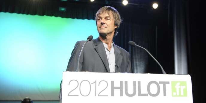 Nicolas Hulot a annoncé sa candidature à la présidentielle de 2012 mercredi 13 avril à Sevran.