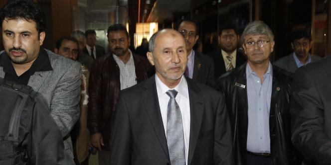 Moustapha Abdeljalil, président du CNT, à Benghazi, le 11 avril.