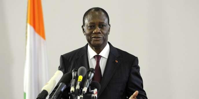 Le président Ouattara, le 13 avril.