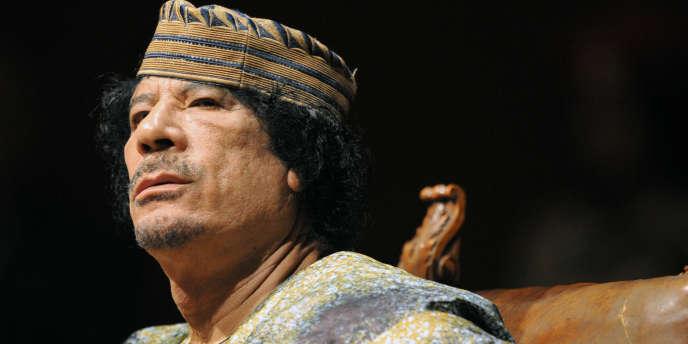Le colonel Kadhafi en août 2009.