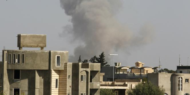 Explosion à Tripoli, jeudi 14 avril.