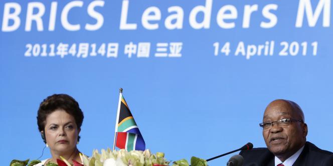 Les cinq pays émergents regroupés sous l'acronyme anglais BRICS sont : le Brésil, la Russie, l'Inde, la Chine et l'Afrique du Sud.