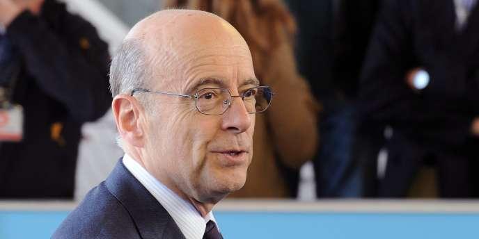 Le ministre des affaires étrangères français, Alain Juppé, le 12 avril 2011.