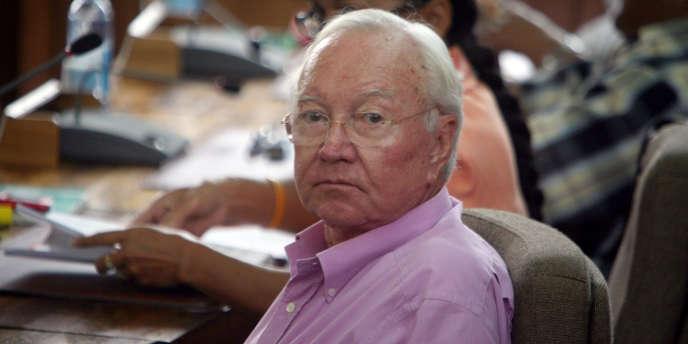 Gaston Flosse, le 8 avril 2010, à Papeete.