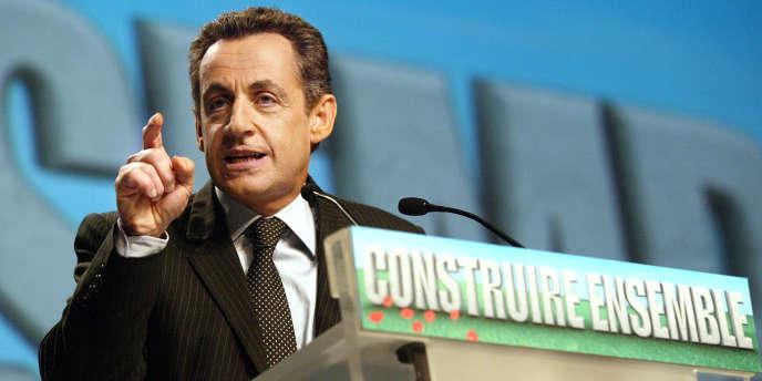 Nicolas Sarkozy, le 18 décembre 2006, à Charleville-Mézières.