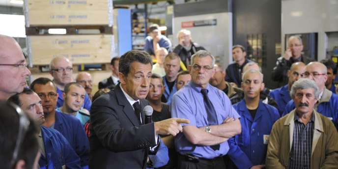 Dans une fonderie des Ardennes, mardi 19 avril, Nicolas Sarkozy est revenu sur l'idée d'une prime aux salariés lorsque les dividendes des actionnaires augmentent.