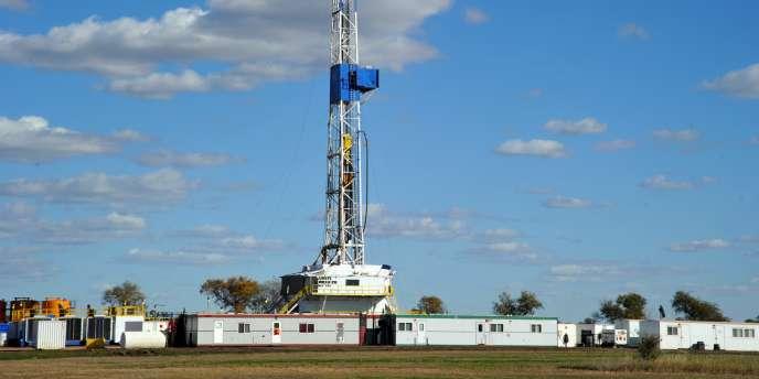 Un site d'exploitation de schiste dans le Dakota, aux Etats-Unis.