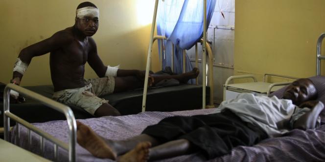 Des victimes des émeutes postélectorales à l'hôpital St-Gerard de Kaduna, le 20 avril.