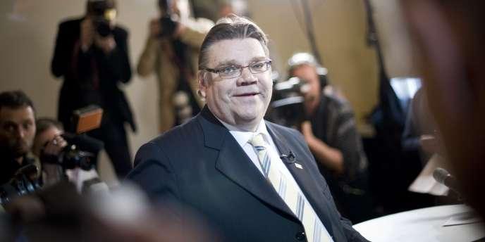 Le dirigeant des Vrais Finlandais, Tino Soini, le 17 avril 2011 à Helsinki.