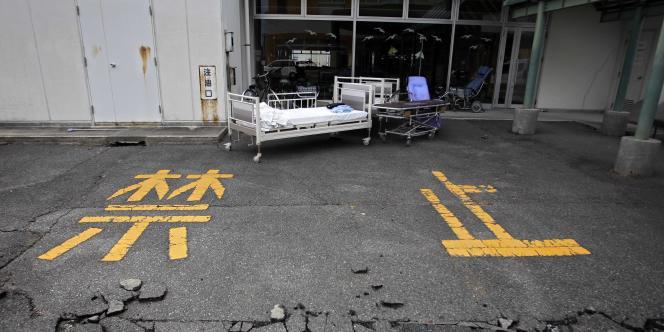 Dans la ville désertée de Futaba, située à l'intérieur du rayon d'évacuation de vingt kilomètres mis en place autour de la centrale nucléaire de Fukushima.