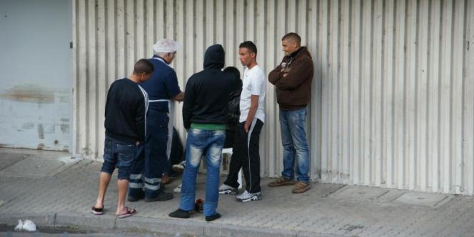 Le centre d'accueil des migrants tunisiens, à Vintimille.