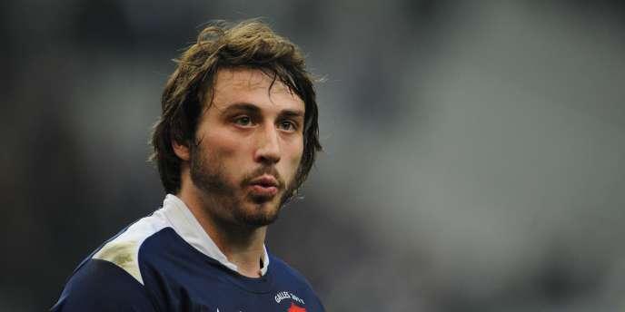 Maxime Médard, lors de la rencontre du Tournoi des six nations France-Pays de Galles, le 19 mars 2011 au Stade de France.