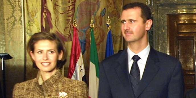 Bachar et Asma-Al-Assad, en 2002.