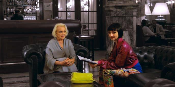 Micheline Presle et Maria de Medeiros dans le film documentaire franco-belge de Frédéric Sojcher,