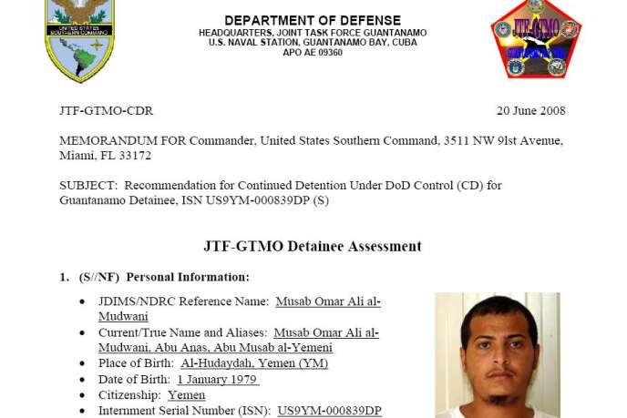 Selon les documents du département d'Etat américain publié par WikiLeaks, Musab Omar Ali al-Mudwani serait une source précieuse de renseignements.