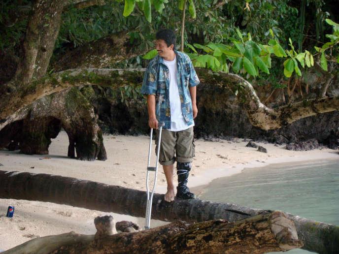Ahmad Tourson, le 1er novembre 2009 à Koror, la plus grande ville des Palaos.
