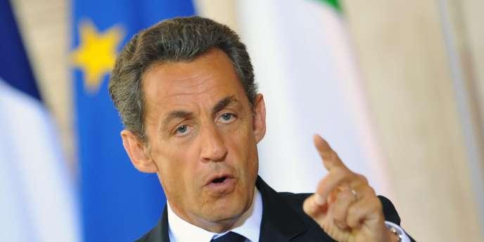 Nicolas Sarkozy en Italie, le 26 avril.