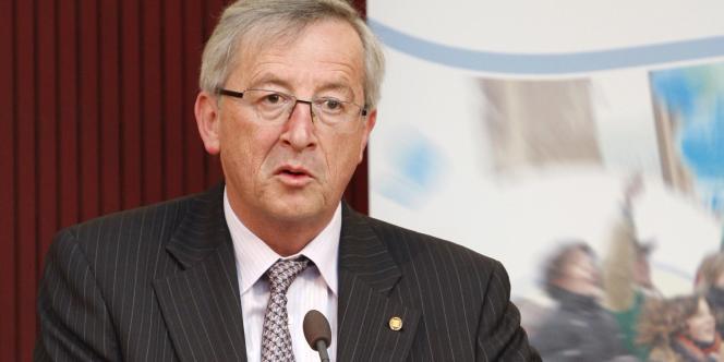 Le premier ministre luxembourgeois et président de l'Eurogroupe Jean-Claude Juncker, le 20 avril 2011 à Bruxelles