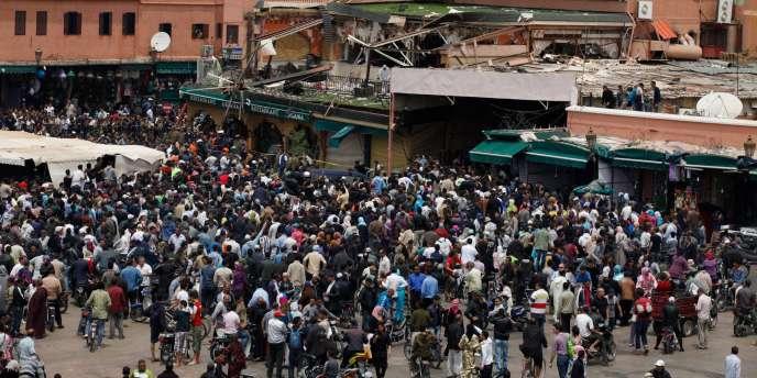 L'attentat qui s'est produit jeudi 28 avril à Marrakech a causé la mort de seize personnes, dont huit Français.