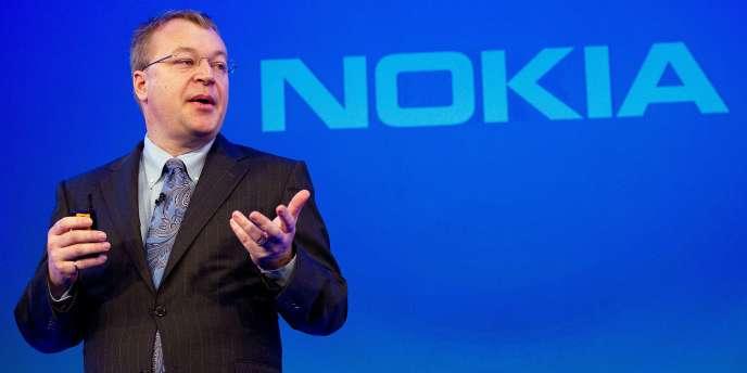 Stephen Elop, nouveau directeur de Nokia, en février à Londres.