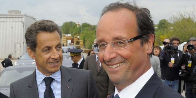 François Hollande et Nicolas Sarkozy en Corrèze, le 28 avril.