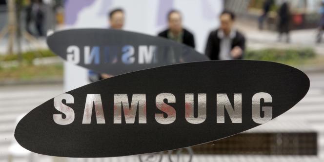 Le logo de l'entreprise Samsung.