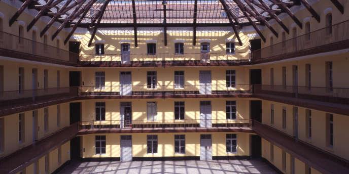 La cour du pavillon central du Familistère de Guise (Aisne)