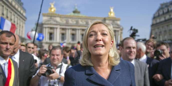 Marine Le Pen, le 1er mai 2011, à Paris.