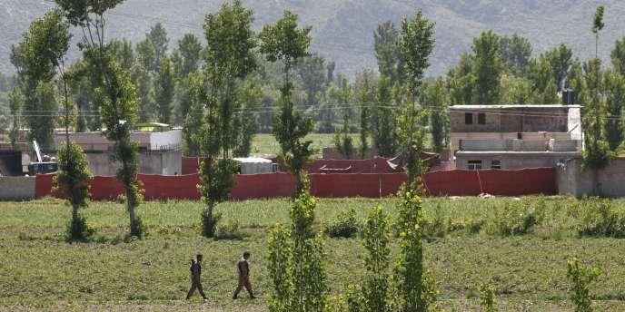 Vue d'une partie de la résidence d'Oussama Ben Laden, le 2 mai 2011.