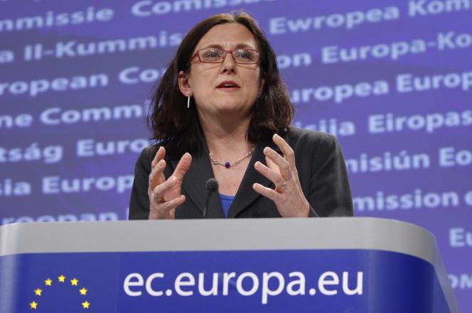 Cecilia Malmström, la commissaire européenne chargée des affaires intérieures, en 2011 à Bruxelles.