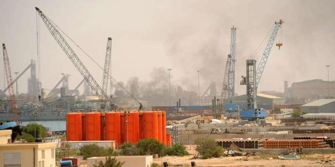 Vue du port de Misrata, le 2 mai 2011.