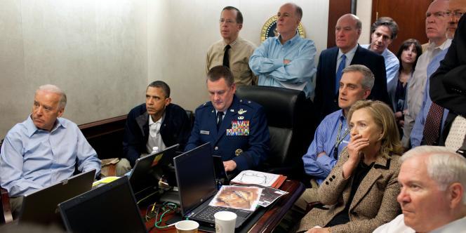 Dans la salle de crise, pendant l'assaut, dimanche après-midi.