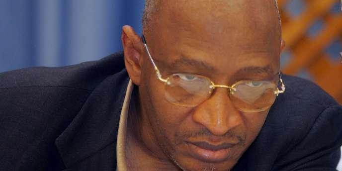 Soumeylou Boubèye Maïga durant une conférence de presse, le 1er mai, à Bamako au Mali.