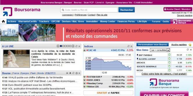 Boursorama, filiale de la Société générale, revendique 325 000 clients et 160 000 comptes courants.