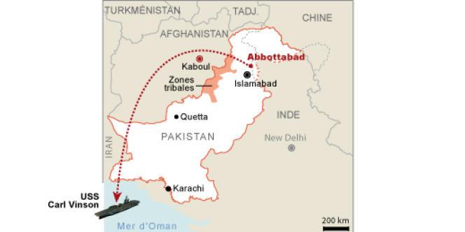 Le corps de Ben Laden a été transporté d'Abbottabad jusqu'en Afghanistan, puis sur l'USS