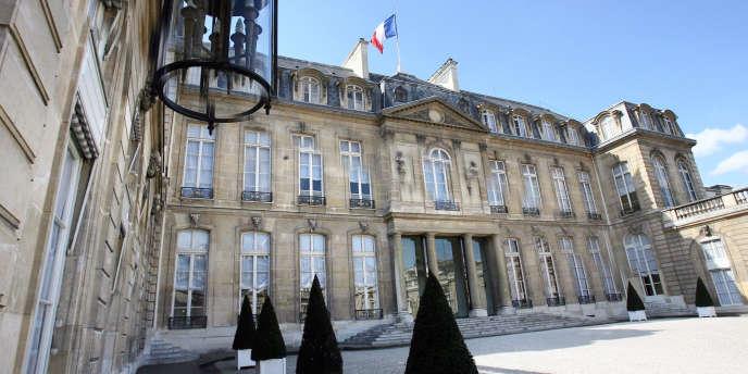 Vue de l'Elysée à Paris, en avril 2007.