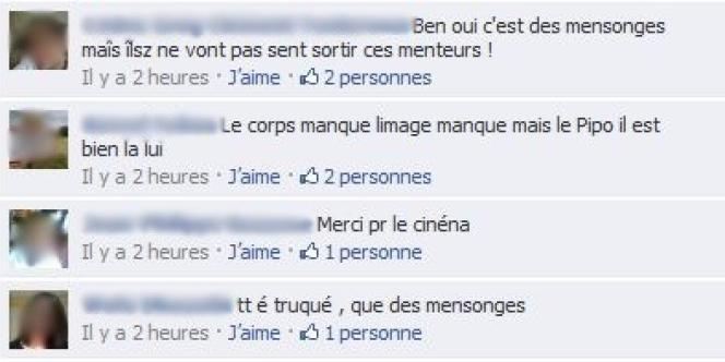 Une capture d'écran de la page Facebook du Monde.fr jeudi matin.