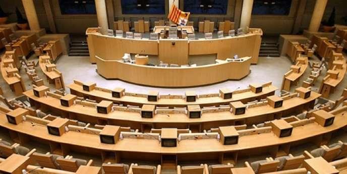 Vue de l'hémicycle du Conseil régional de Provence-Alpes-Côte d'Azur.
