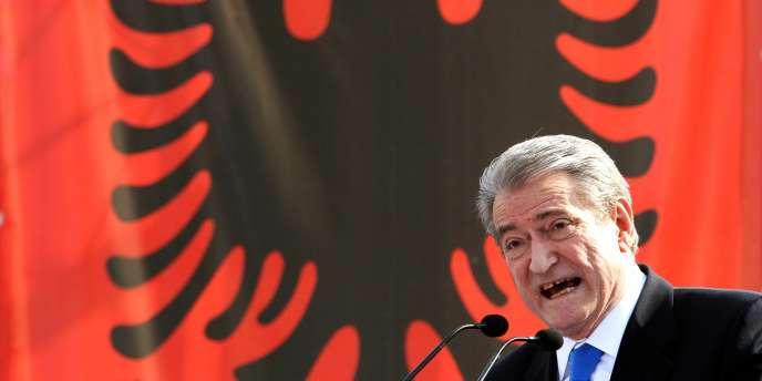 Le premier ministre albanais Sali Berisha, en février 2011.