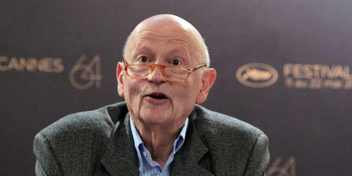 Le président du Festival international du film de Cannes, Gilles Jacob, lors d'une conférence de presse à Paris, le 14 avril 2011.