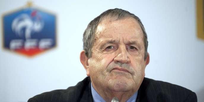 Le président de la Fédération française de football, Fernand Duchaussoy - ici, le 29 avril 2011 à Paris - dit avoir été informé de l'