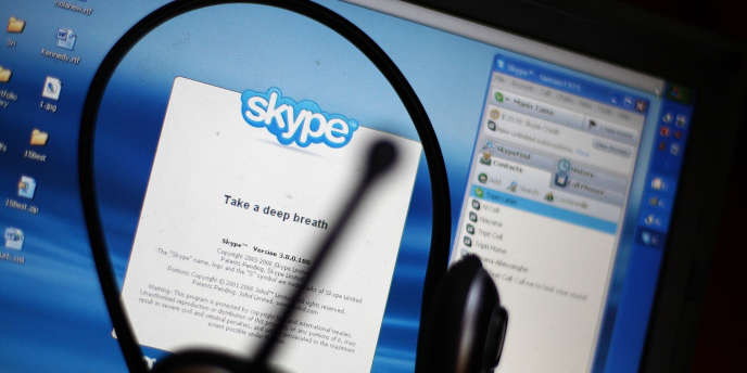 L'interface de Skype.