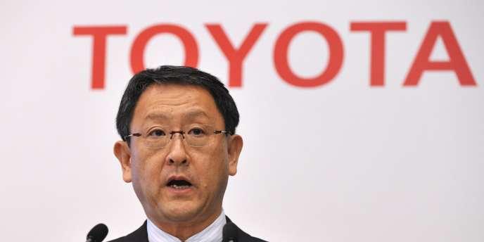 Akio Toyoda, le président de Toyota, avait fait le vœu, début 2012, qu'aucune catastrophe ne vienne à nouveau perturber la production des constructeurs nippons.