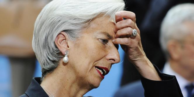 Christine Lagarde, alors ministre de l'économie et des finances, le 15 avril 2011 à Washington.