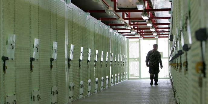 Le camp de détention de Guantanamo en août 2004.