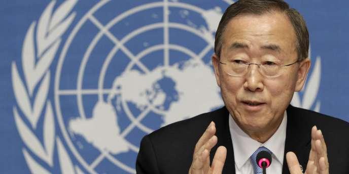 Le secrétaire général des Nations unies, Ban Ki-moon, le 11 mai 2011 à Genève.